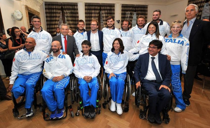 04/07/17 - Luca Lotti Mondiali Scherma Paralimpica roma