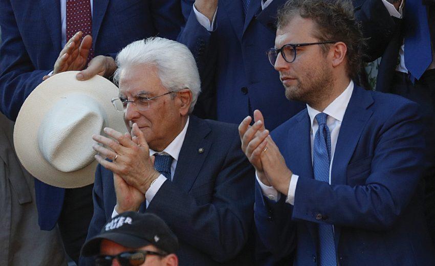 21/05/17 - Presidente Mattarella Luca Lotti Centrale del Tennis