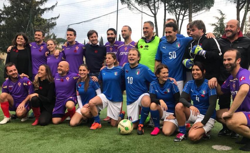 25/11/17 - Luca Lotti Nazionale di calcio femminile parlamentare contro la squadra di Palazzo Vecchio