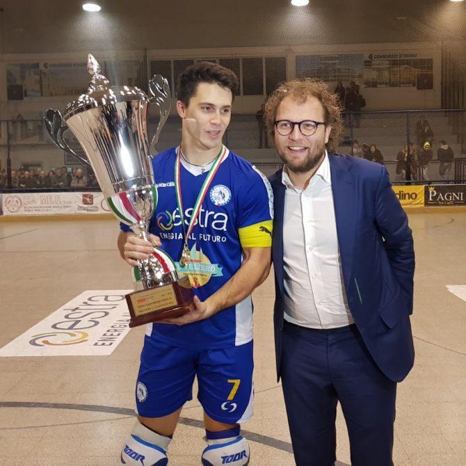 Luca Lotti - Follonica Premiazione Coppa Italia hockey su pista