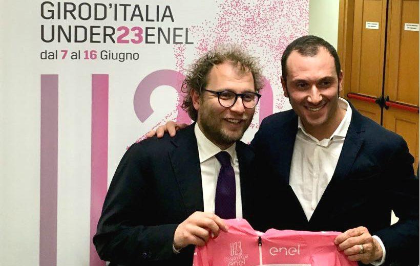 Luca Lotti con Ivan Basso
