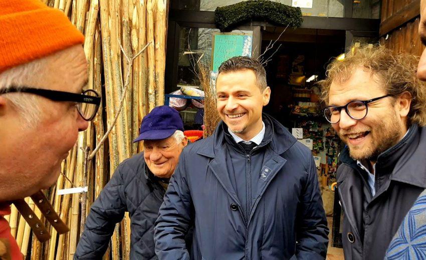 Luca Lotti - visita alle botteghe